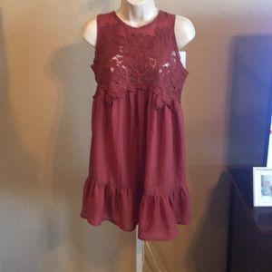 Rust Lace Dress